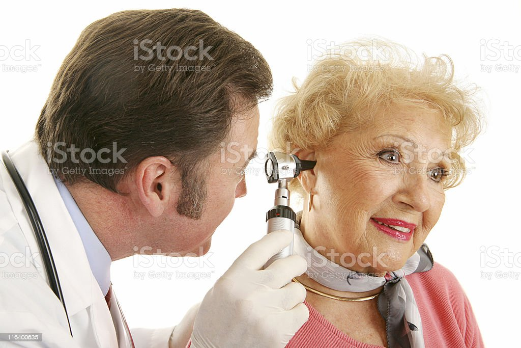 Senior Lady Gets Checkup stock photo