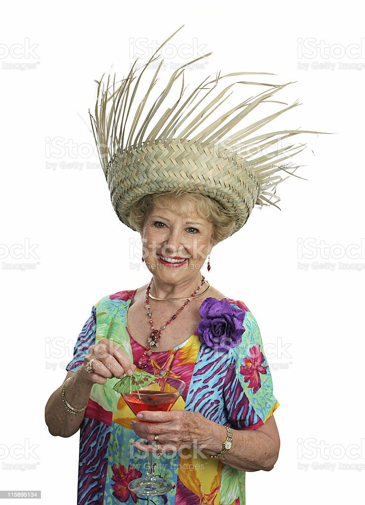 Senior Lady On Vacation royalty-free stock photo