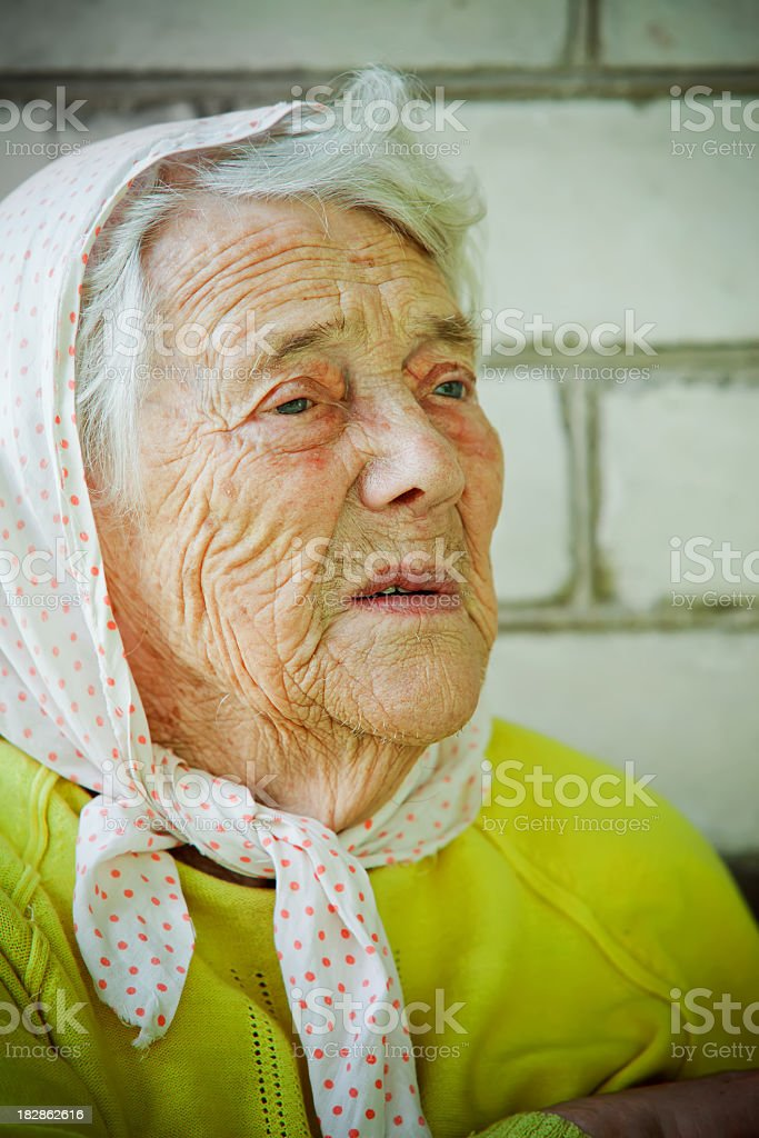 Senior lady stock photo
