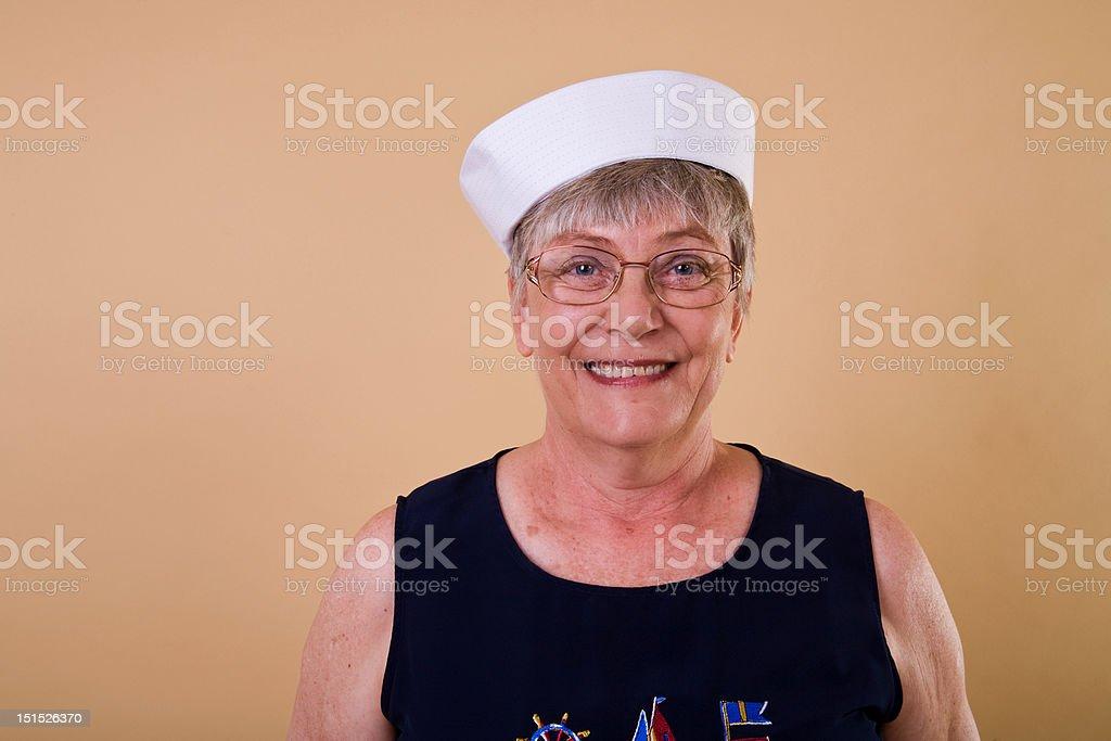 Senior Lady Sailor stock photo