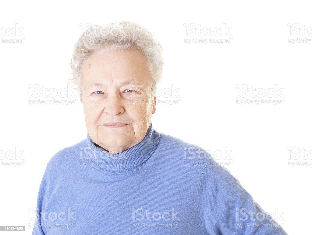 Senior lady smiling royalty-free stock photo