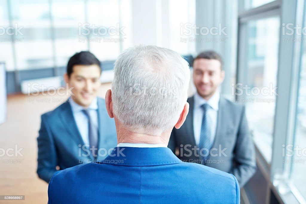 Senior leader stock photo