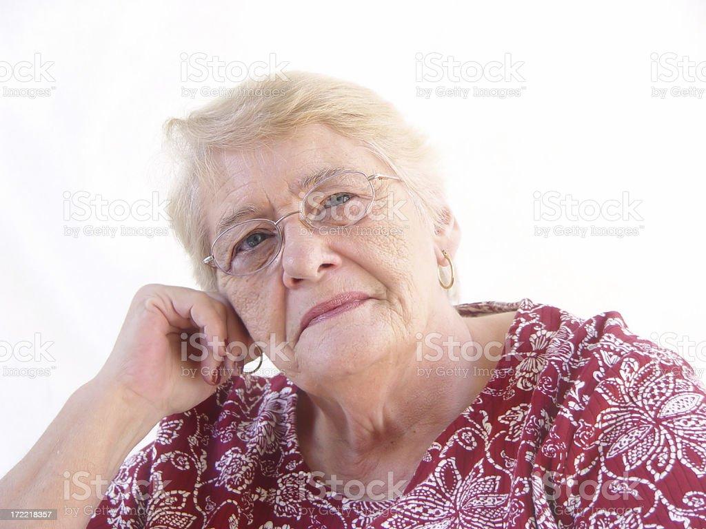 senior - leaning stock photo