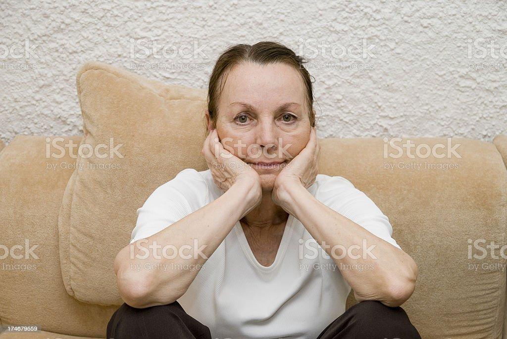 senior looking at camera royalty-free stock photo