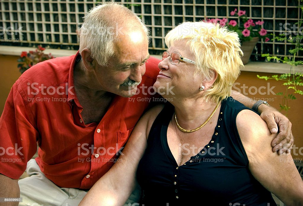 Senior love royalty-free stock photo