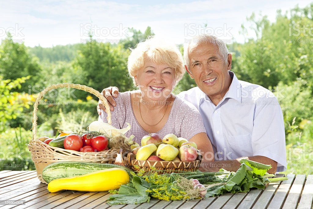 Senior loving couple royalty-free stock photo