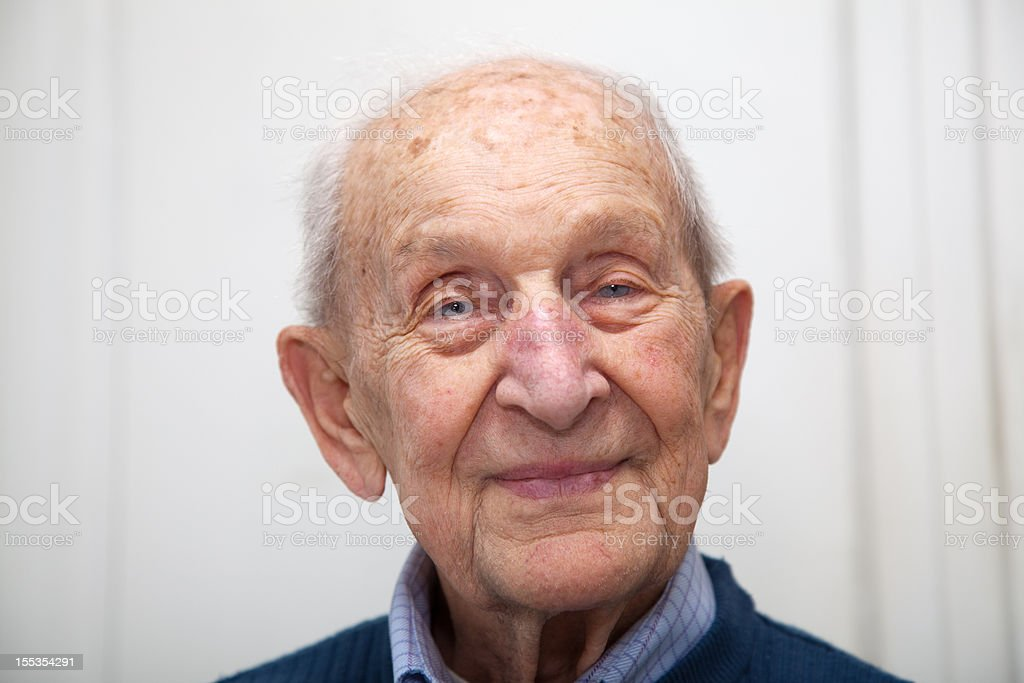 Senior male 90 years old portrait stock photo