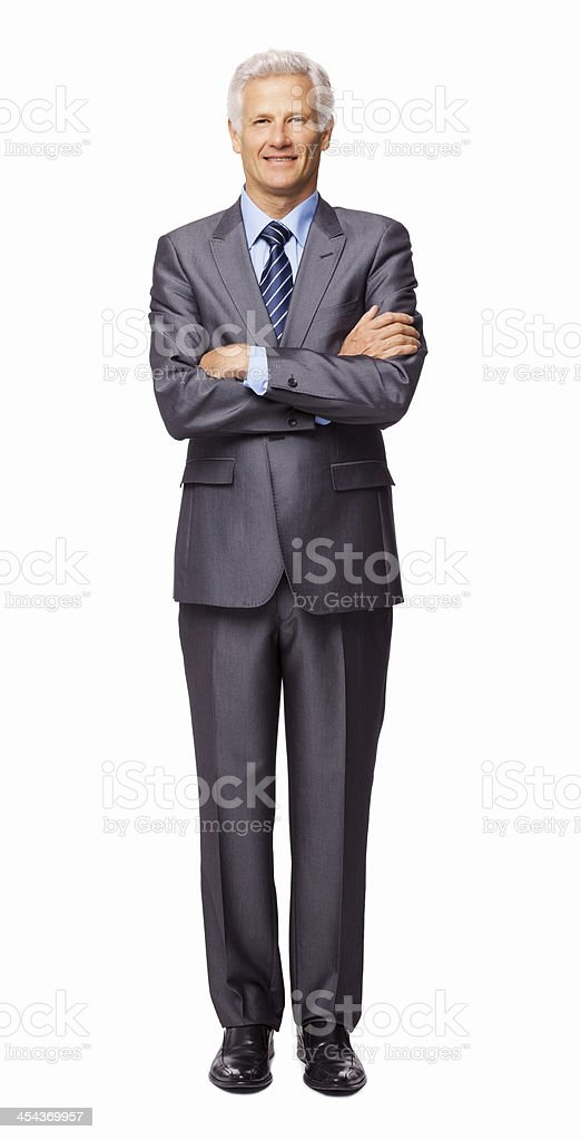 Senior Male Business Executive - Isolated royalty-free stock photo