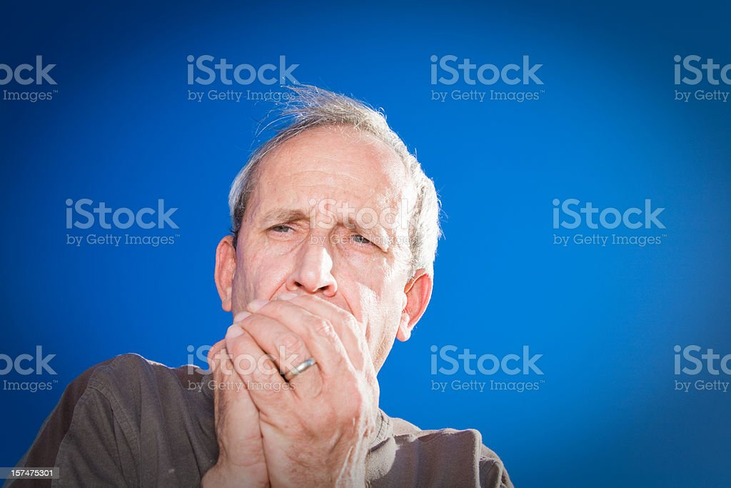 Senior Male Cold and Flu royalty-free stock photo