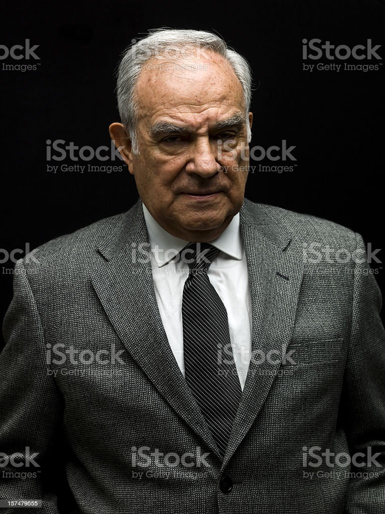 Senior male dressed in a business suit. royalty-free stock photo
