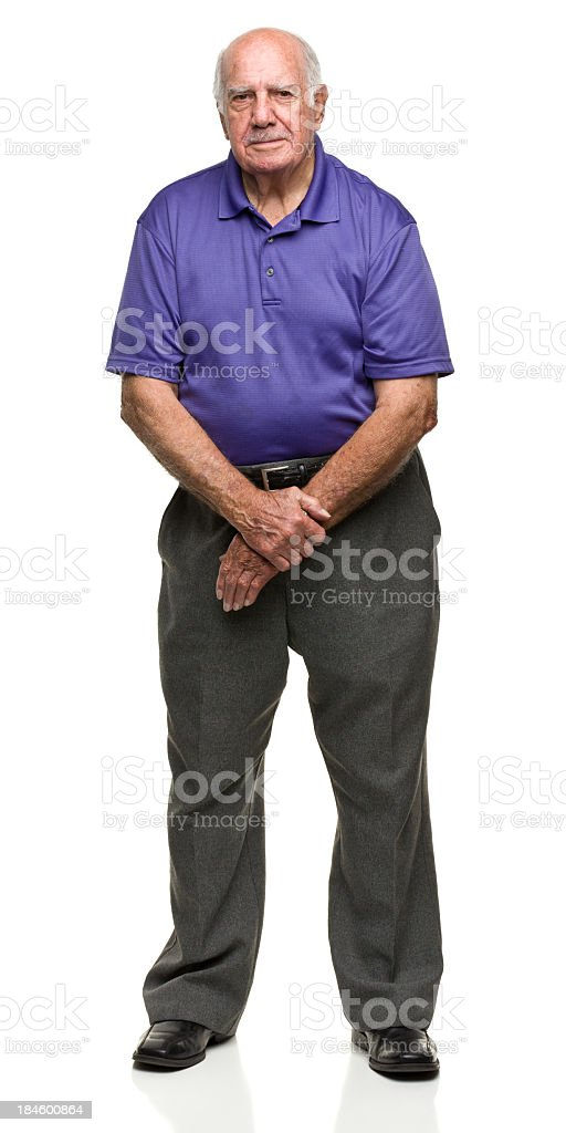 Senior Male Standing Portrait royalty-free stock photo