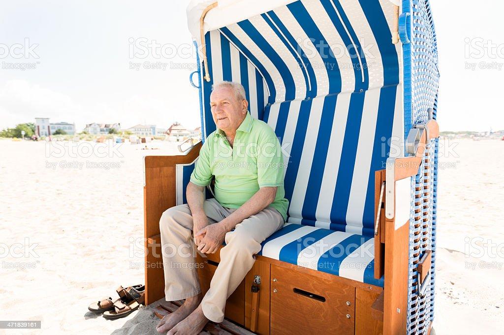Senior man alone royalty-free stock photo
