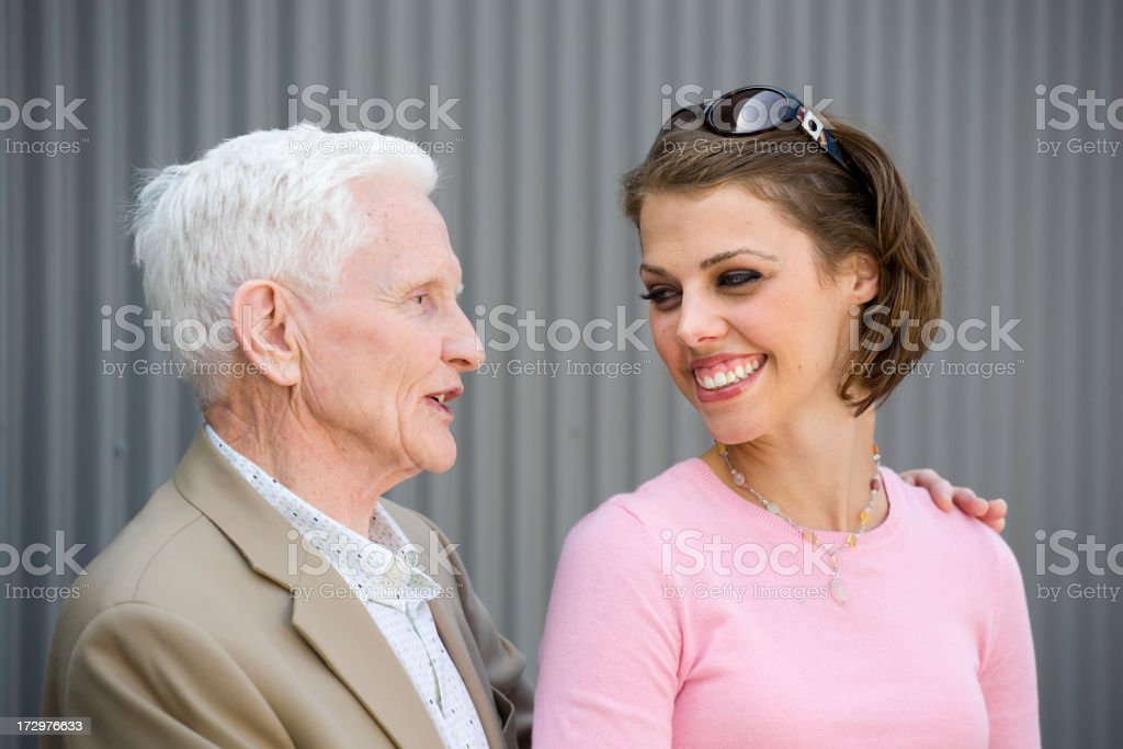 Senior Man and Young Woman royalty-free stock photo