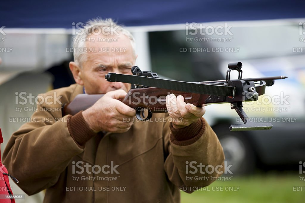 senior man at sports event stock photo
