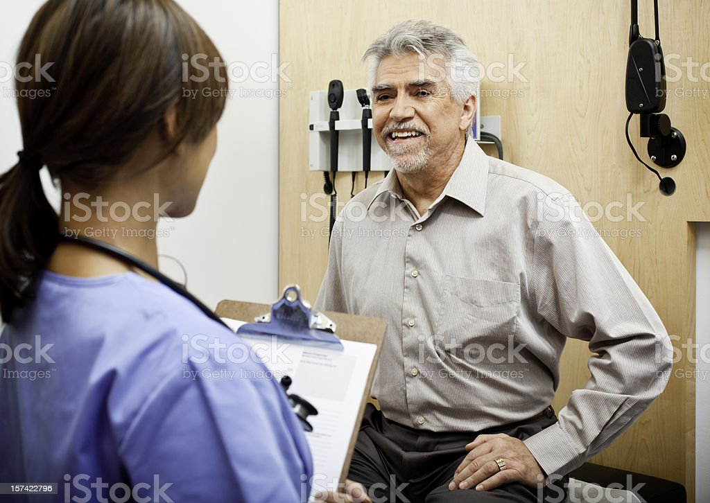 Senior Man at the Doctor's Office royalty-free stock photo