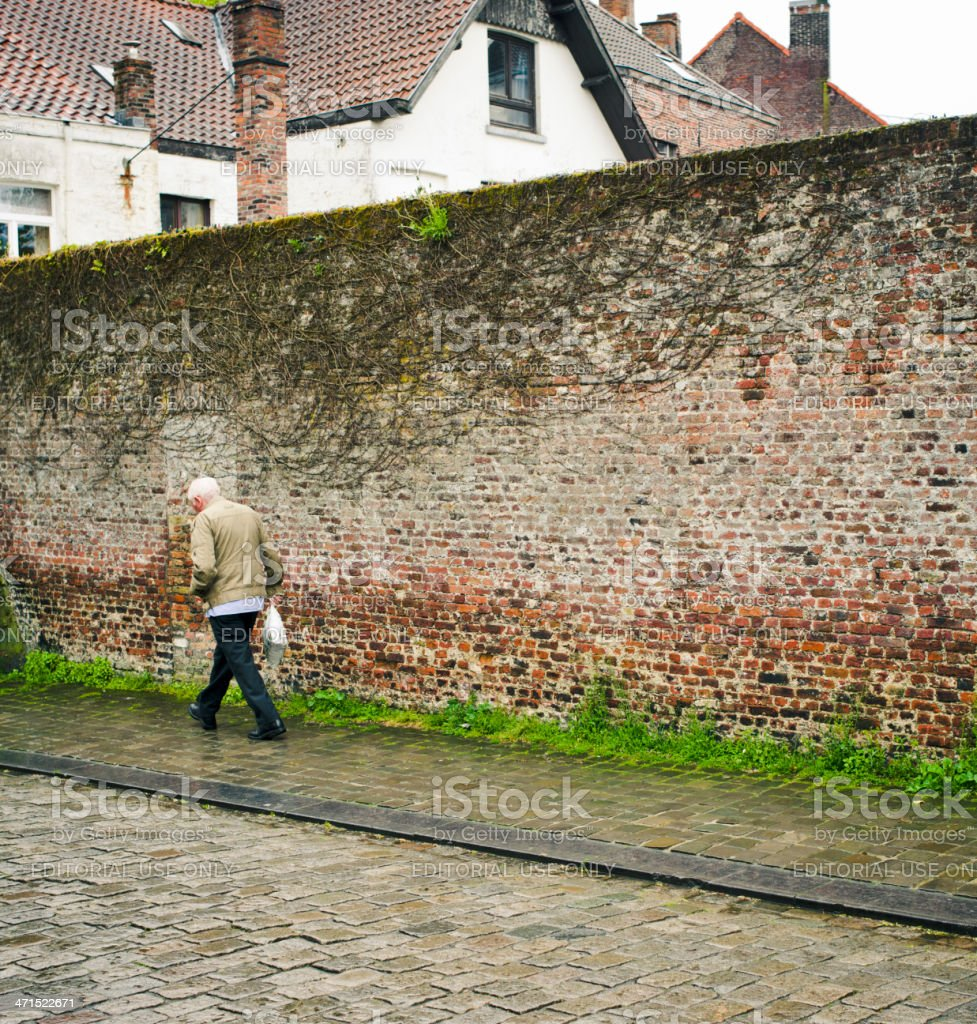 Senior Man, Brugge, Belgium royalty-free stock photo