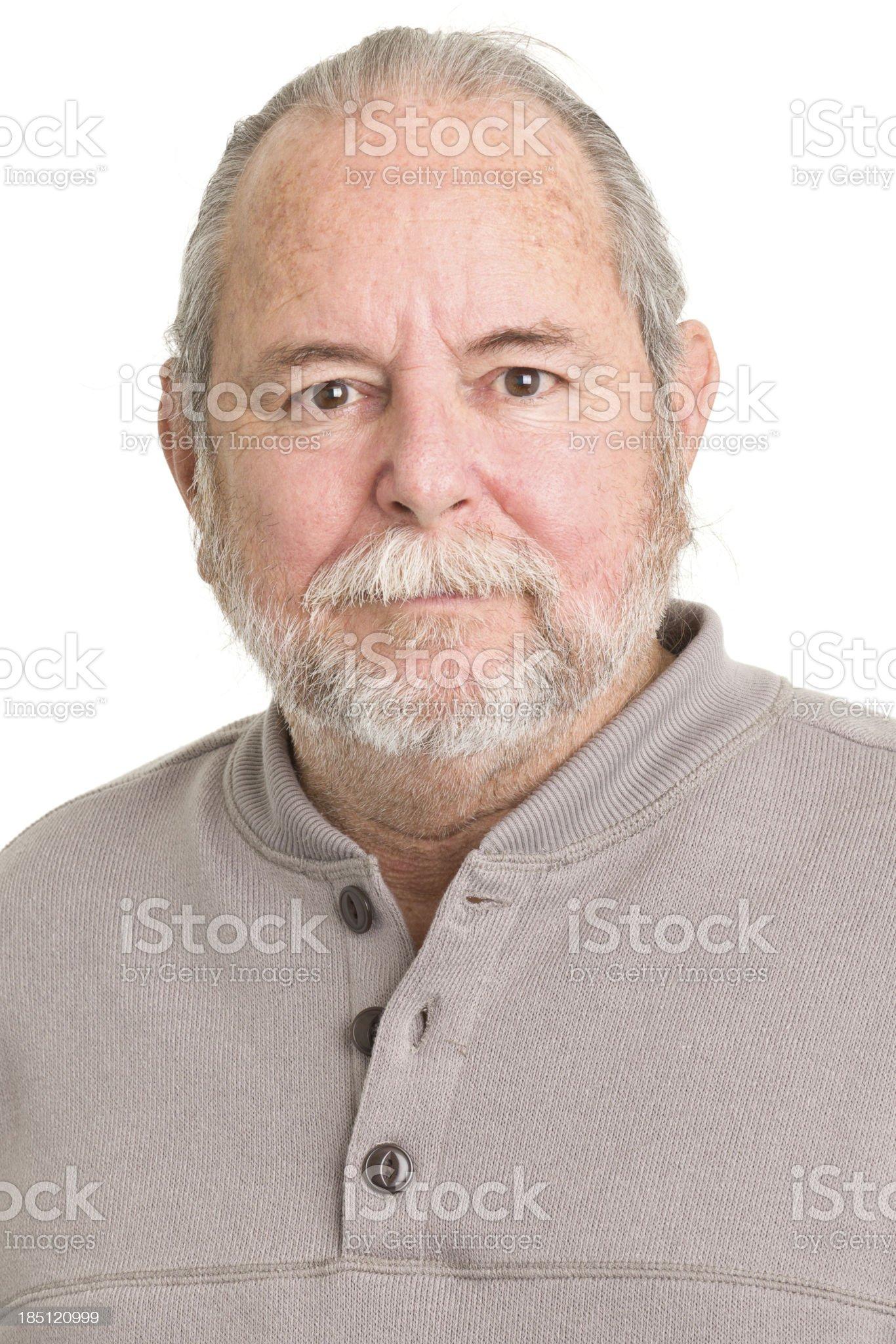Senior Man Close-up Portrait royalty-free stock photo