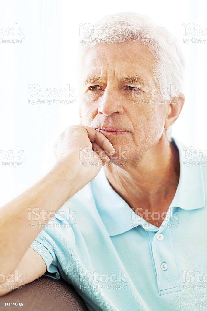 Senior Man Day Dreaming royalty-free stock photo