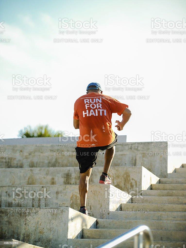 Senior Man exercising outdoors royalty-free stock photo