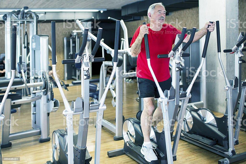 Senior man Exercising stock photo