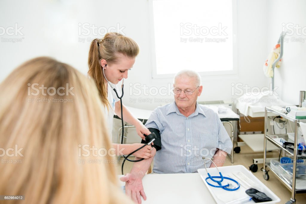 Senior Man having a daily apporintmeknwbdi n stock photo