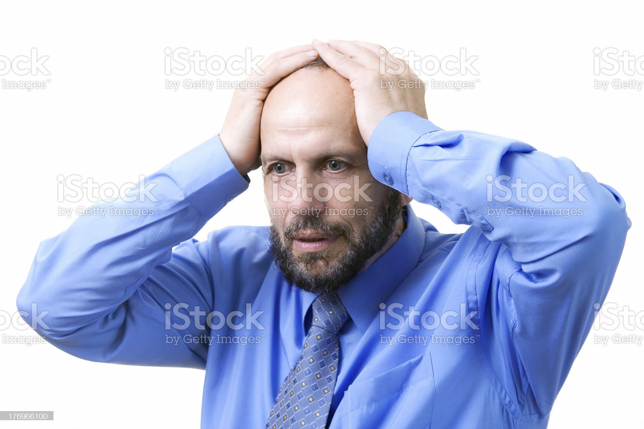 Senior man having problems royalty-free stock photo