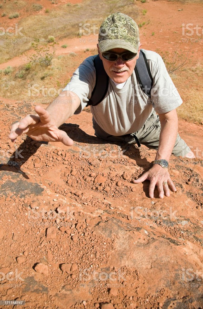 Senior Man Hiking royalty-free stock photo
