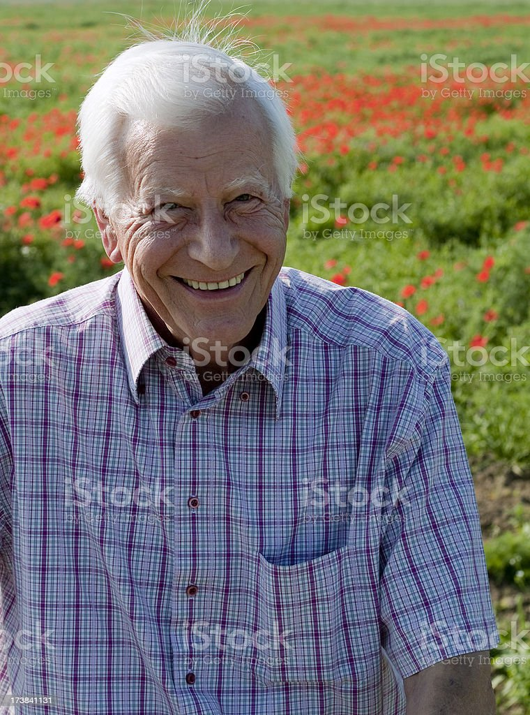 Senior Man in Field royalty-free stock photo