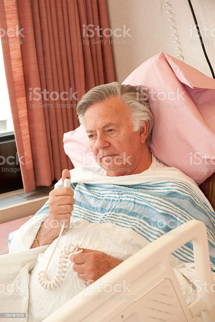 senior man in hospital royalty-free stock photo