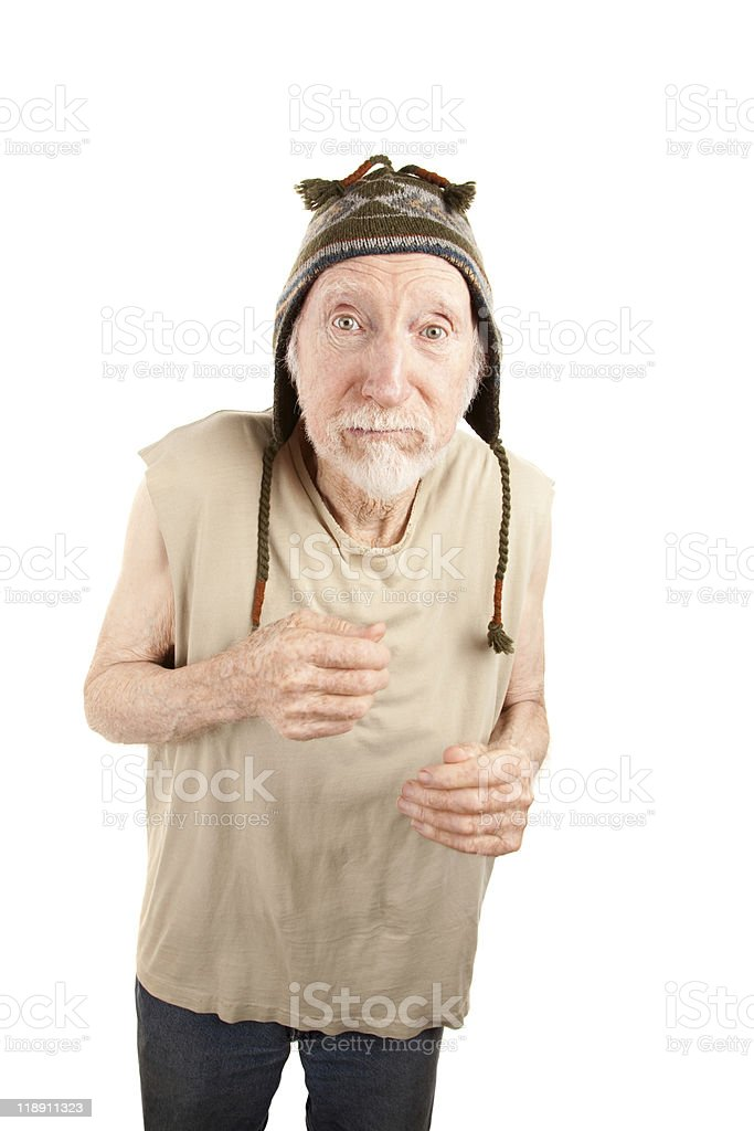 Senior Man in Knit Cap royalty-free stock photo