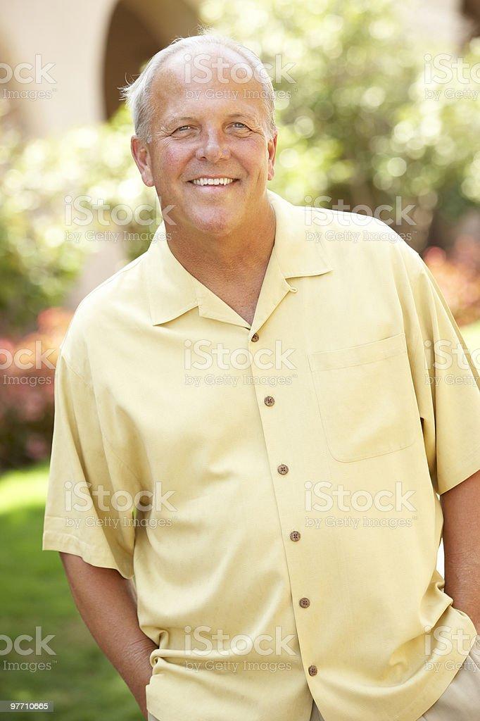 Senior Man In Park royalty-free stock photo