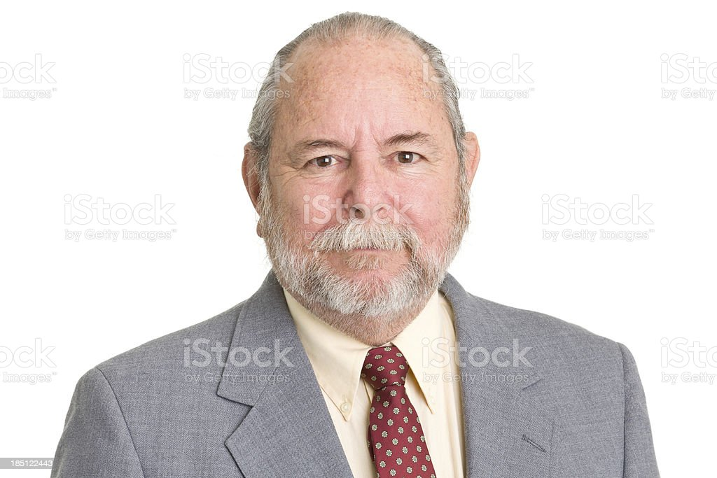 Senior Man In Suit And Tie stock photo