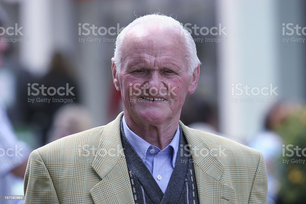 Senior man in the city royalty-free stock photo
