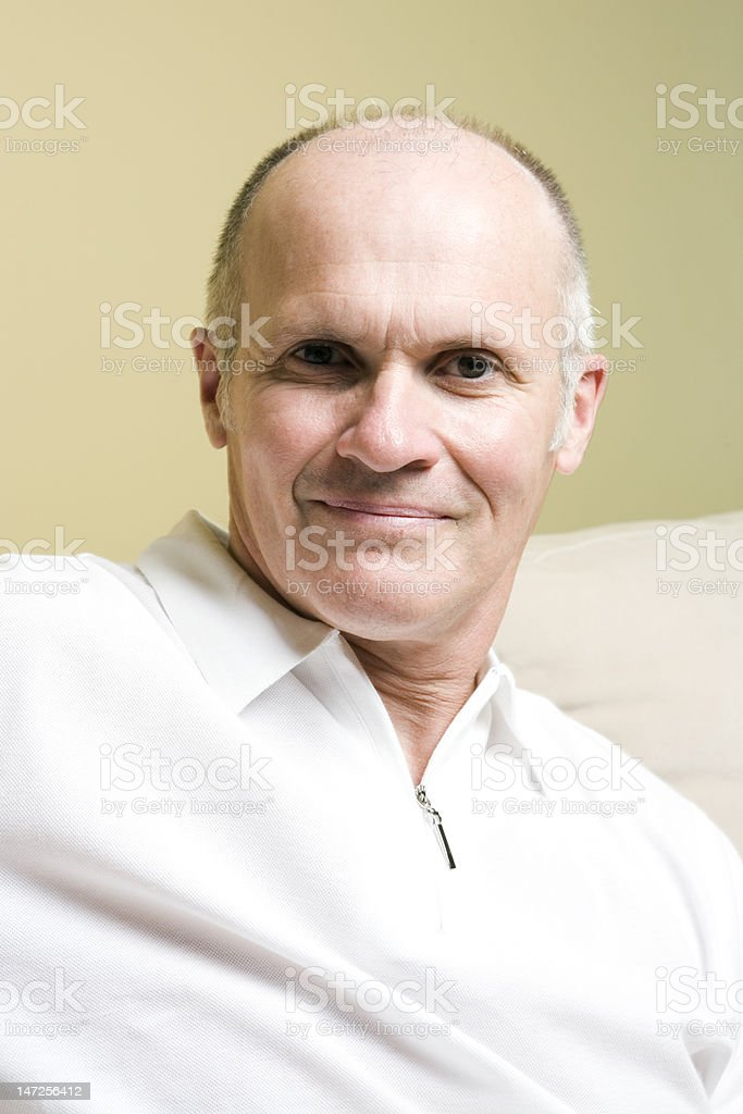 Senior Man Lifestyle Series royalty-free stock photo