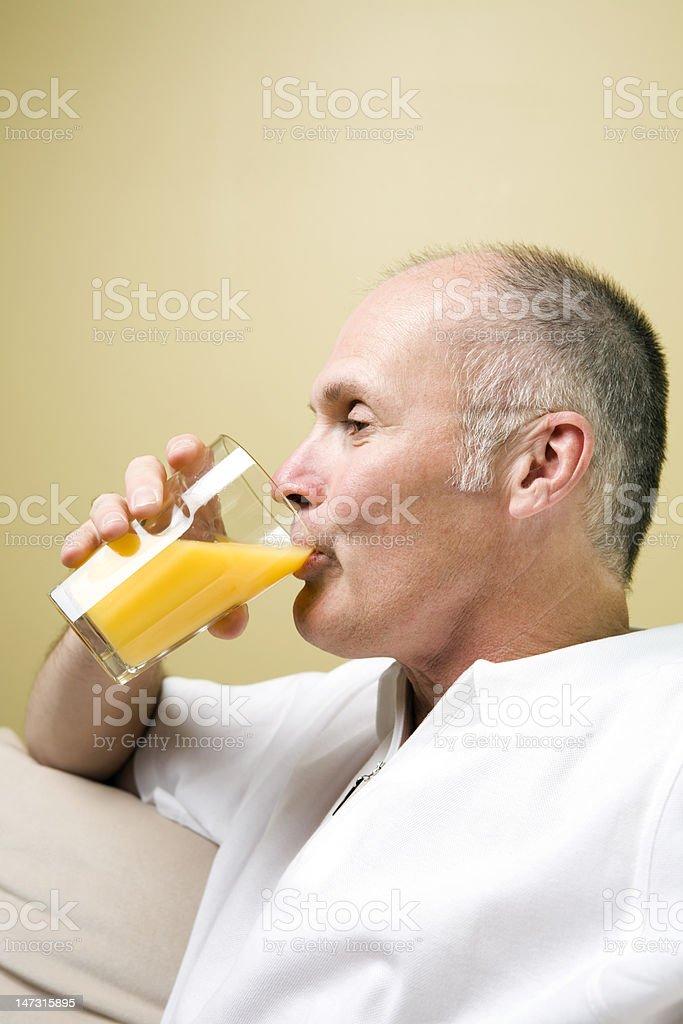 Senior Man Lifestyle Series royalty-free stock photo