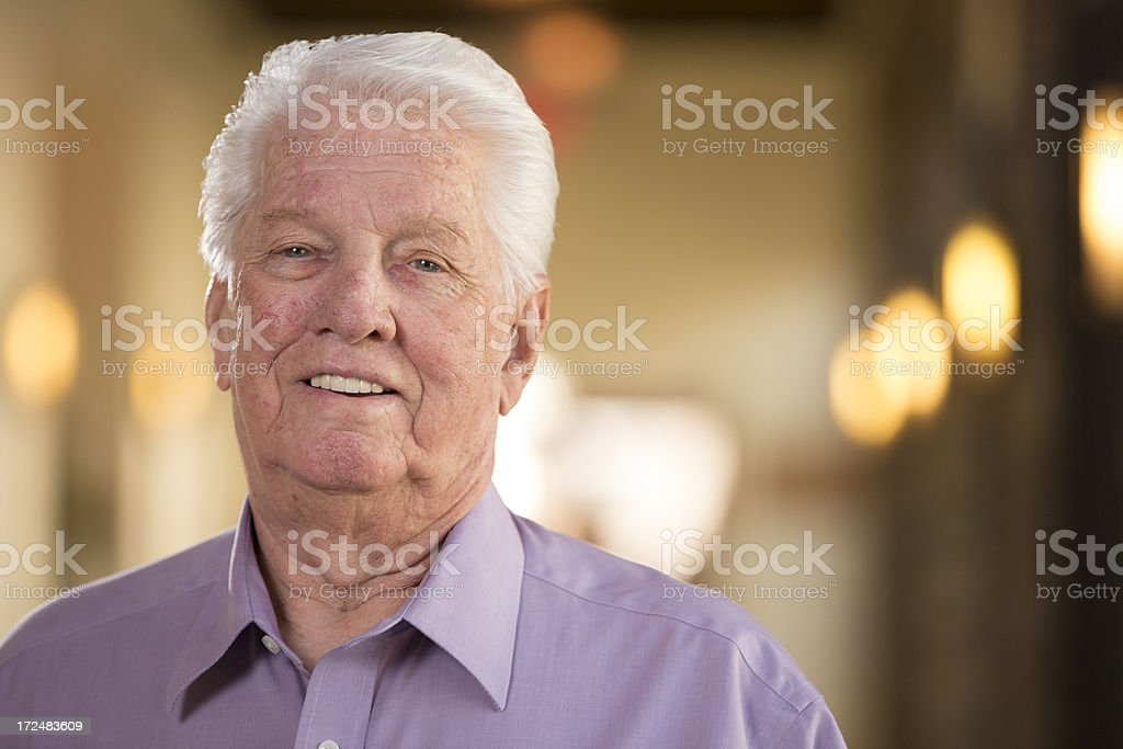 Senior Man looking at camera royalty-free stock photo