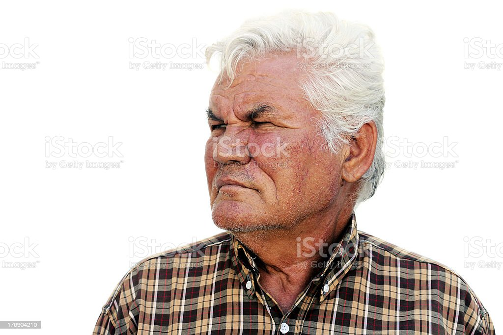 Senior Man Looking To One Side royalty-free stock photo