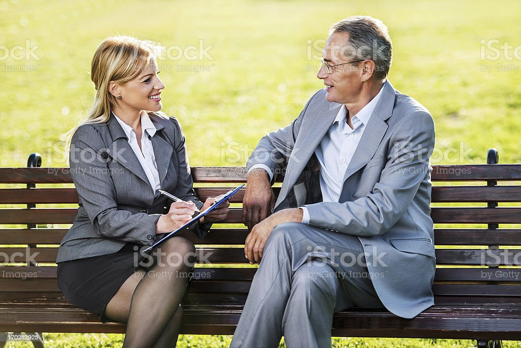 Senior man on a job interview. royalty-free stock photo
