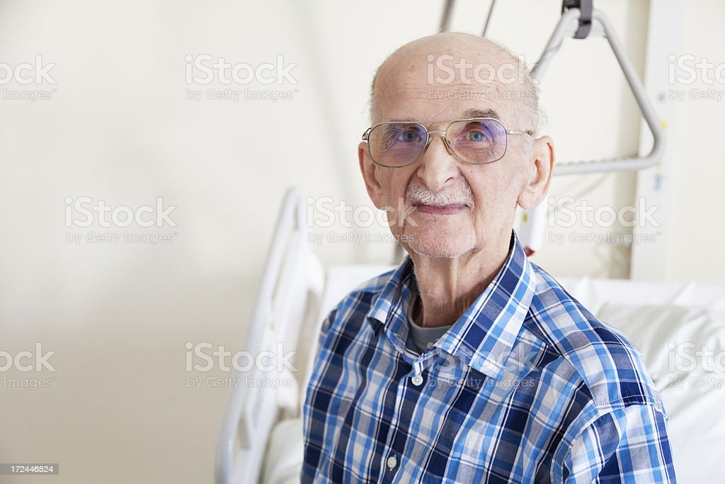 senior man patient in hospital royalty-free stock photo
