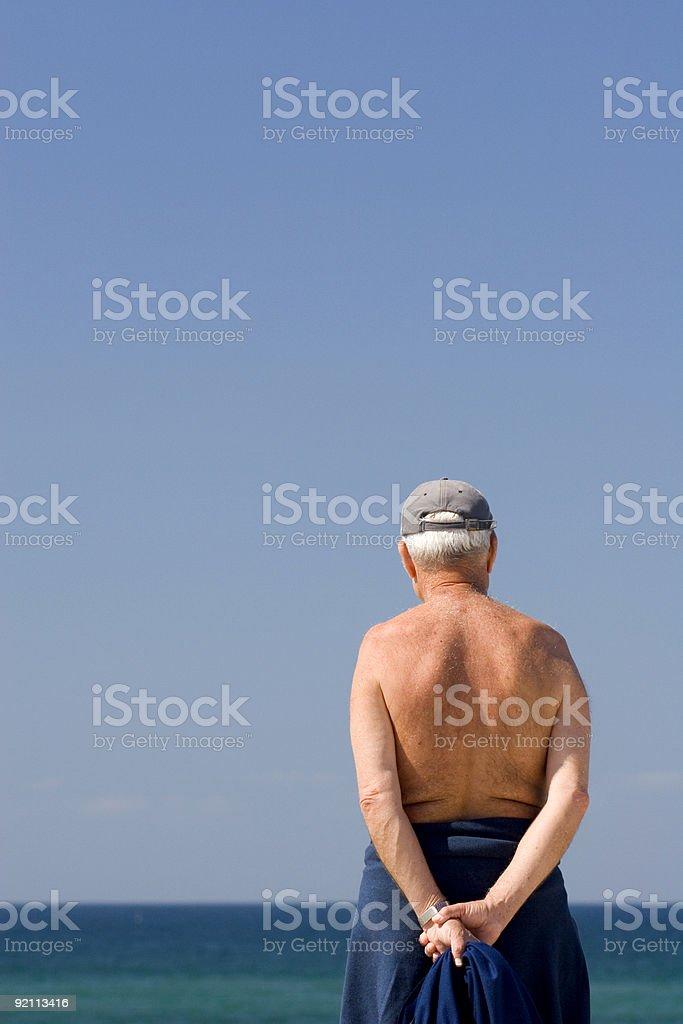 Senior man stock photo