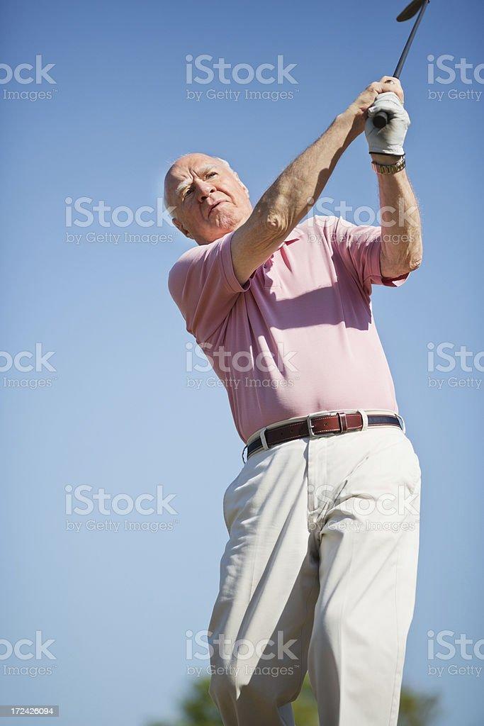 Senior Man Playing Golf royalty-free stock photo