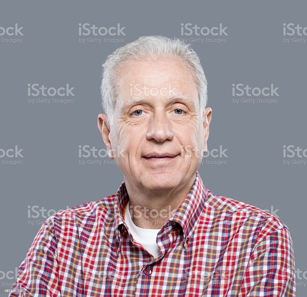 Senior Man Portrait stock photo