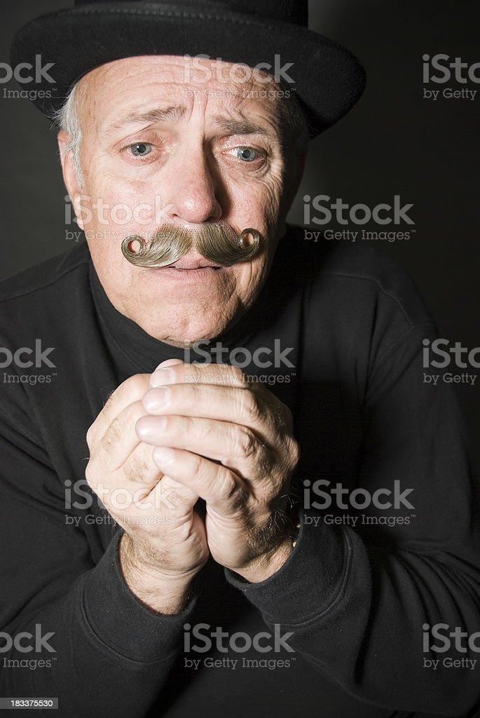 Senior Man Praying royalty-free stock photo