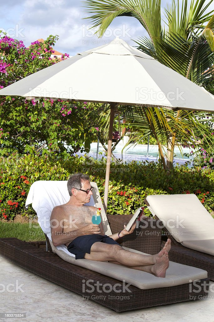 senior man relaxing royalty-free stock photo