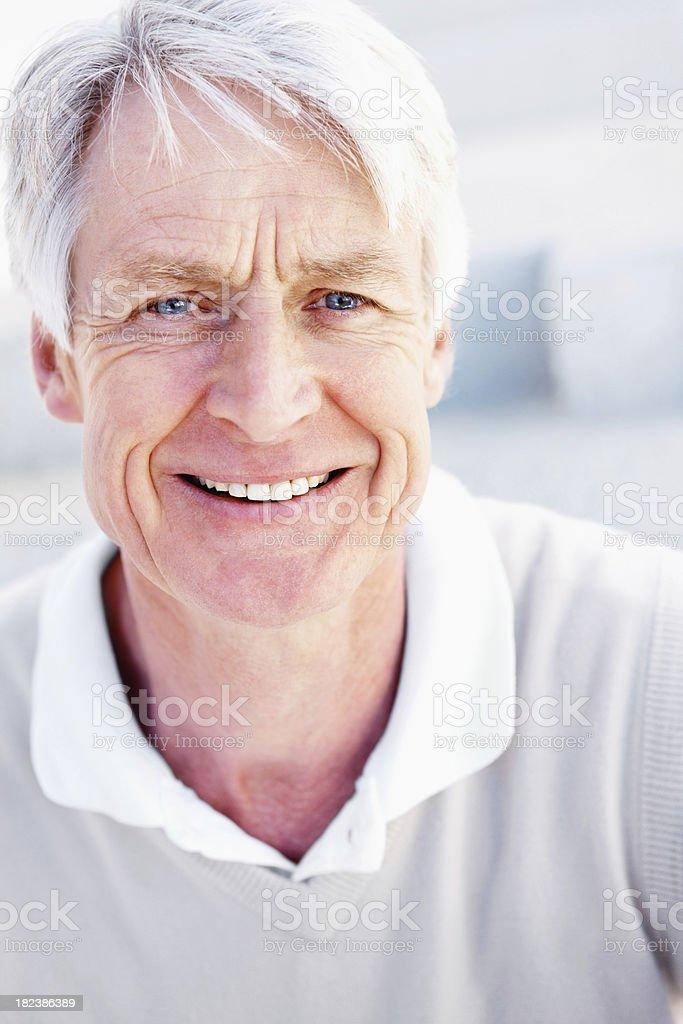 Senior man smiling royalty-free stock photo