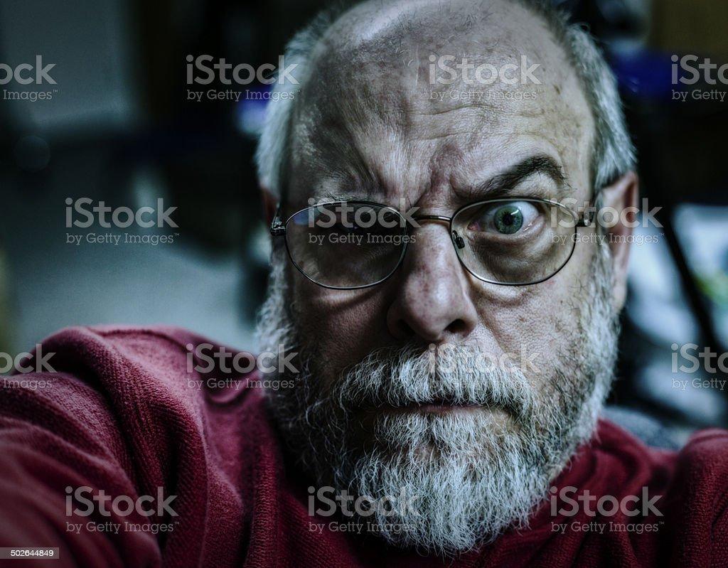 Senior Man Staring stock photo