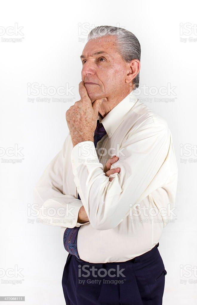 Senior Man Thinking. stock photo