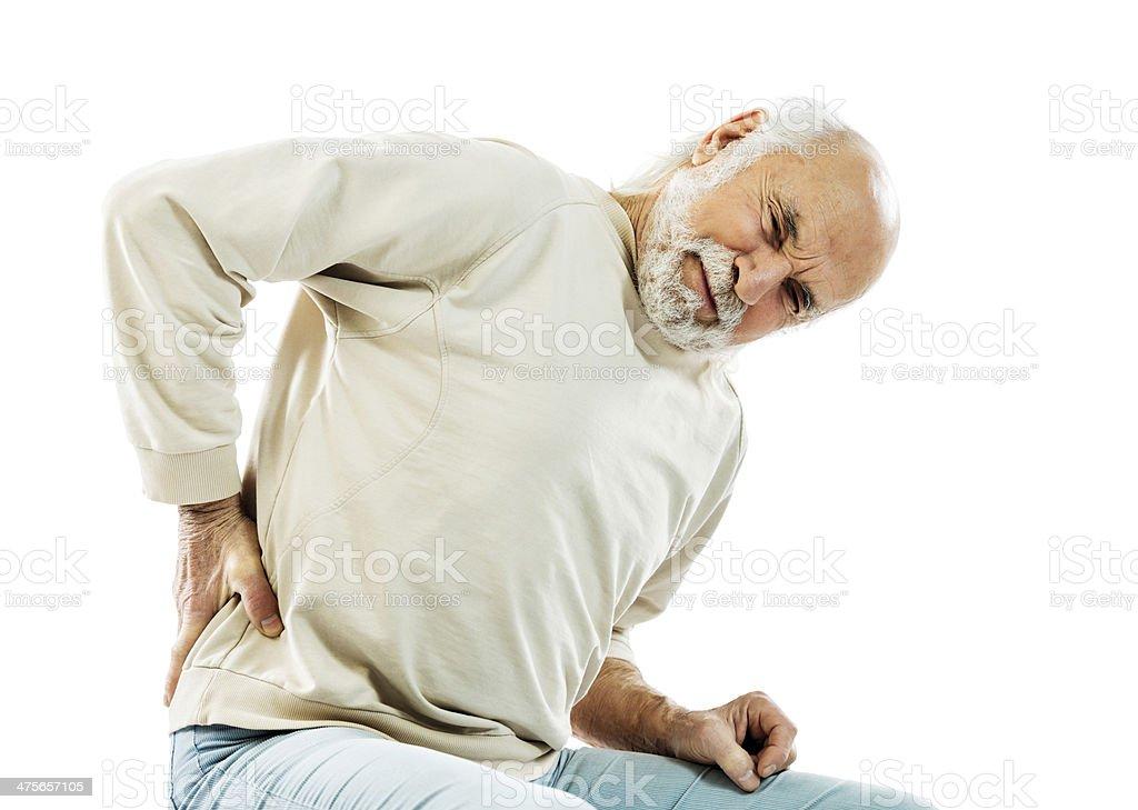 Senior man with backache. royalty-free stock photo