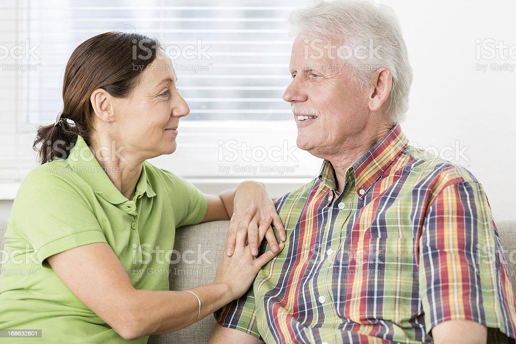 Senior Man with Caregiver royalty-free stock photo