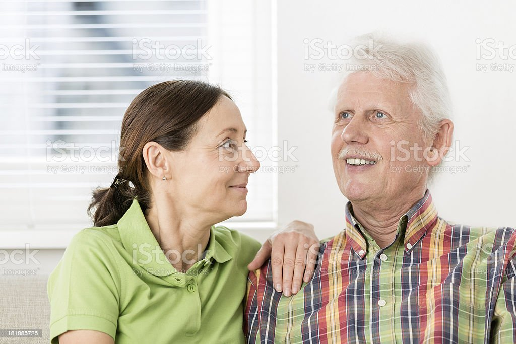 Senior Man with Caregiver royalty-free stock photo